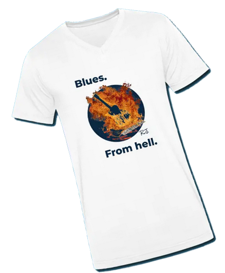 T-shirt displaying the Blues from Hell at the Crossroads